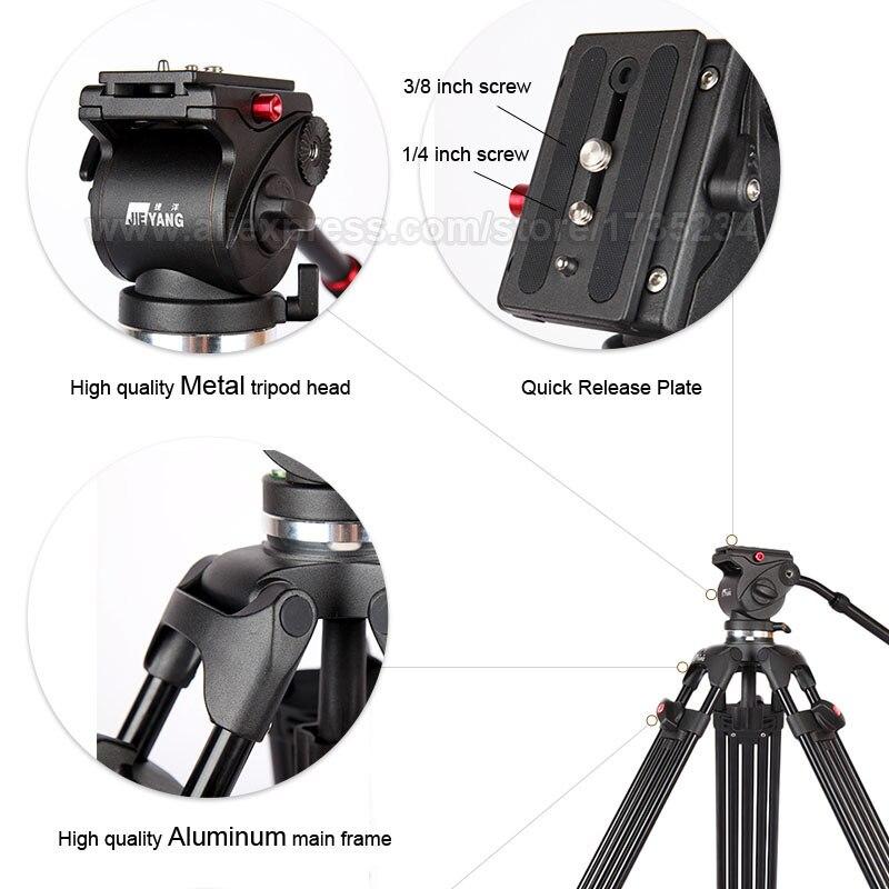 JY0508B 185 cm profesionalni video kamera tronožac s 360 stupnjeva - Kamera i foto - Foto 5