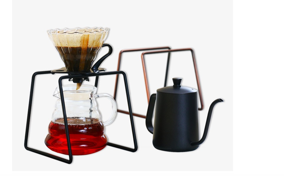 Pour-over coffee steel frame siza/Pour-over coffee steel Frame profile display/stainless steel Dripper coffee cup Rack drip smart coffee cup filter coffee cup manual cup clever dripper pot coffee dripper with cup cover gift for coffee lover