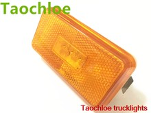 1X24 V Amber LED Sisi Marker untuk Scania 6 Series Reflektor Sisi Marker Lampu Truk Lampu LED Warning Light trailer Lampu Bus Truk(China)