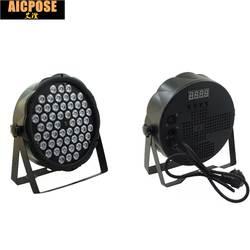 Светодиодный par огни 54x3 W DJ Par светодиодный 54*3 w огни R12, G18, B18, W6 стирка светомузыка, DMX контроллер эффект для малых пати KTV