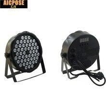 Бесплатная доставка светодио дный par огни 54×3 Вт DJ Par светодио дный 54*3 Вт огни R12, G18, B18, W6 стирка дискотека светом dmx-контроллер эффект
