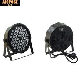 Free Shipping led par lights 54x3W DJ Par LED 54*3w lights R12,G18,B18,W6  Wash Disco Light DMX Controller effect