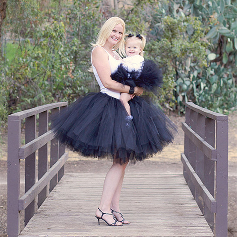 Family Fitted Tutus Matching Mother Daughter Tutu Skirt Kids Baby Girl Fluffy Pettiskirts Dance Tulle Skirt Party Girls Skirts kyser kg6bc