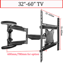 DL-WA8 45KG 30-60 3 arm retractable full motion lcd tv wall mounted Bracket 600mm 780mm ultra slim with cable cover 400x400