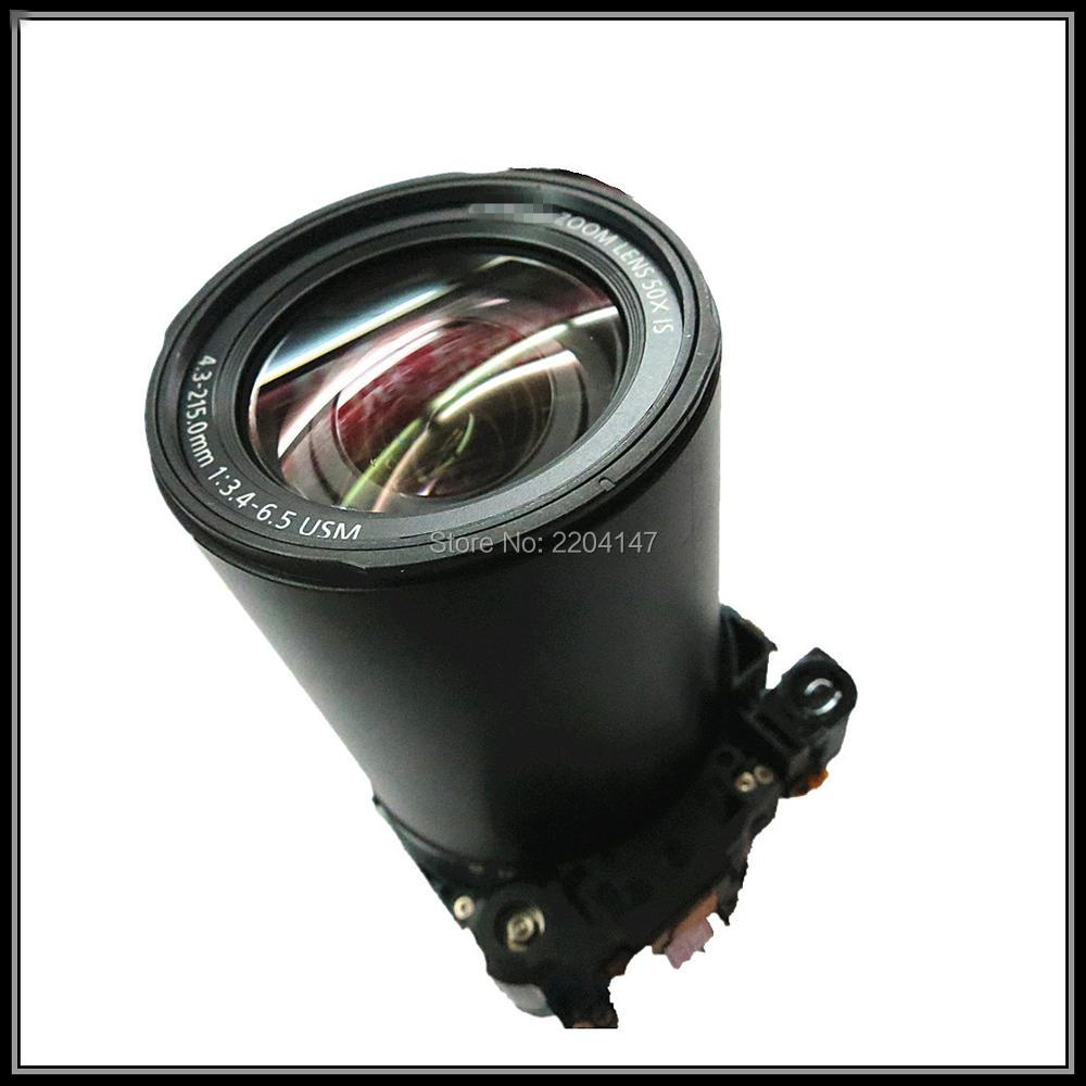 free shipping  100% Original sx50 lens for canon PowerShout SX50 LENS with ccd sx50 zoom Camera repair parts original digital camera zoom lens accessories for canon ixus130 sd1400 ixy400 is pc1472 ixus 130 with ccd black