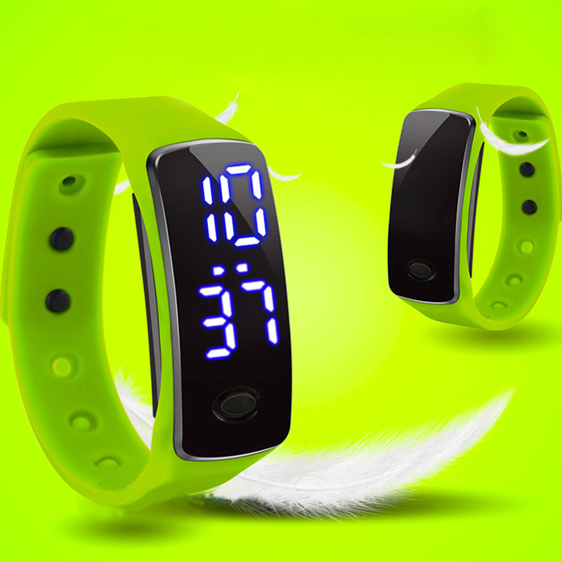 LED Watch Second Generation Children's Electronic Watch Handband Movement Leisure Color(China)