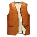 Leather suede men genuine sheepskin vest men fur vest cashmere fur sheep wool liner natural fur jacket male New Phoenix 3060
