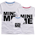 Fashion MINI ME T Shirts Summer Family Matching Clothes Father Mother Kids Children Outfits New Cotton Tees Free Drop Shipping