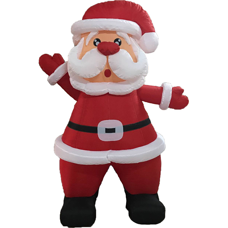 New Outdoor Santa Inflatable Decoration Fancy Mascot Costume Customize Outdoor Inflatable Santa Claus For Christmas