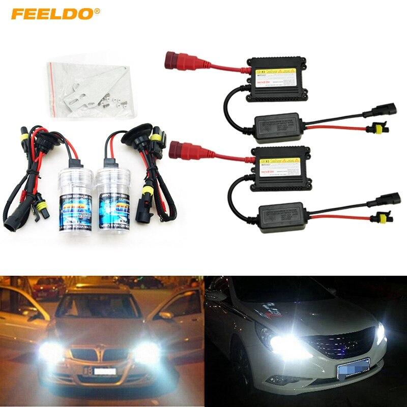 FEELDO 1Set Xenon HID Kit H1/H3/H7/H8/H10/H11/9005/9006 DC 12V 35W Xenon Bulb Lamp Digital Ballast Car Headlight #FD-4470 10sets xenon hid kit h1 h3 h7 h8 h10 h11 9005 9006 dc 12v 35w xenon bulb lamp digital ballast car headlight j 4470