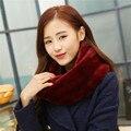 Мода зимой шарфы 2015 женщин искусственного меха шарф шею теплым бесконечности клобук-образным круг петли шарф