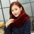 Lenços de inverno de moda 2015 mulheres faux fur scarf neck warmer infinito cowl circuito círculo cachecol