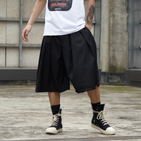 Men Streetwear Hip Hop Punk Gothic Loose Casual Skirt Pant Male Oversize Fashion Kimono Wide Leg Harem Trousers