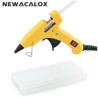 Electrice 20W EU Plug Hot Melt Glue Gun With Free 1pc 7mm Glue Stick Industrial Mini