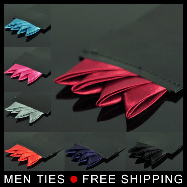Silk Satin Pocket Square Suit chief Hanky Handkerchief Mocketer Noserag For Men Tie 1 pc retail Wholesale