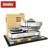 Bela 10679 744Pcs City Famous Building New York Guggenheim Museum Model Building Block Bricks Toys Children