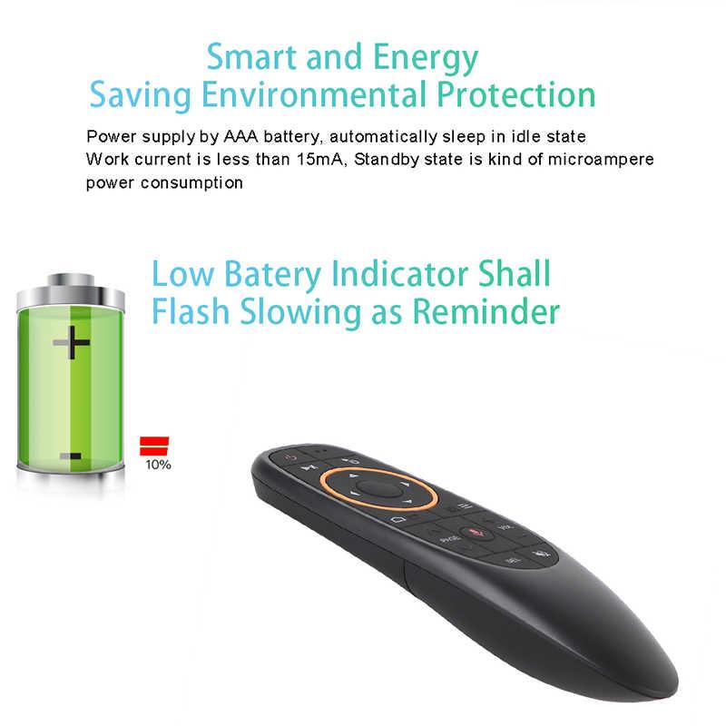 Kebidu G10S Pro Backlit Udara Mouse Suara Remote Control 2.4G USB Receiver Gyro Sensing Wireless Smart Remote untuk Android TV Box