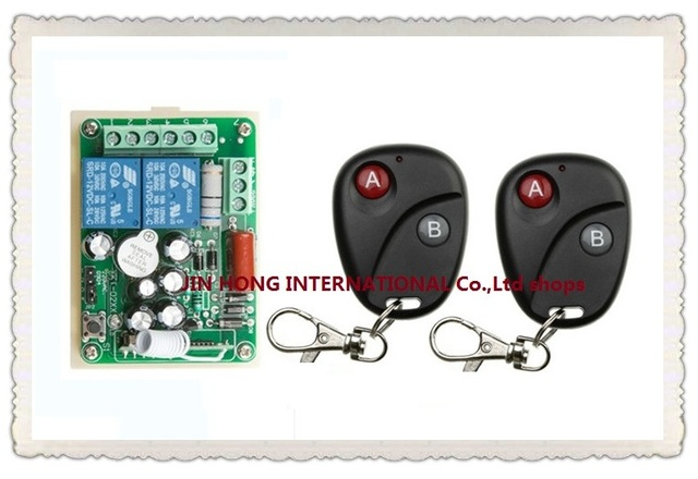 AC 220 V 10 A 2 channel RF Wireless Remote Control 1 Receiver +2 Transmitter