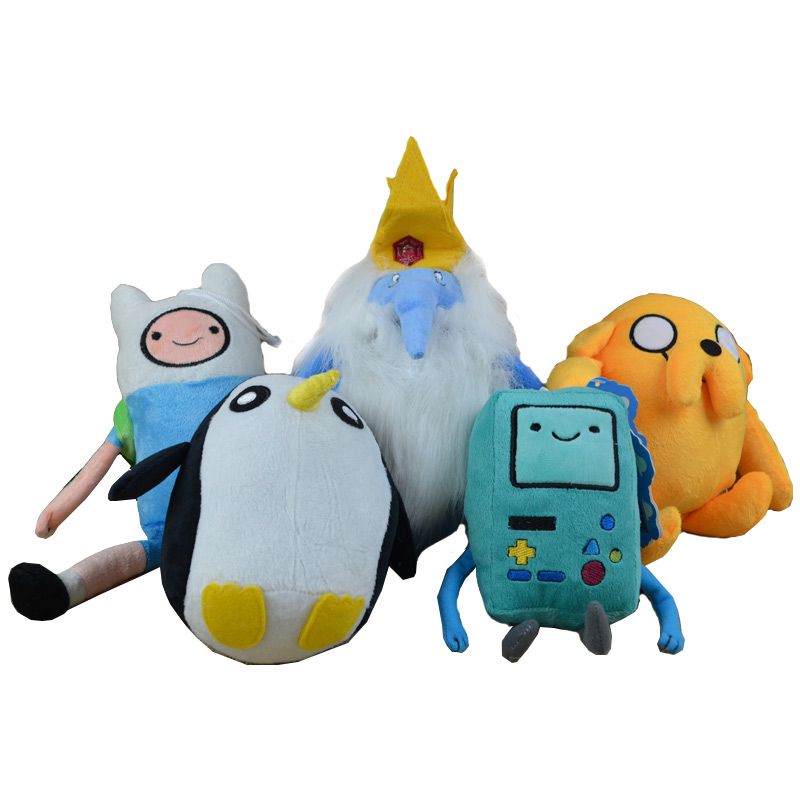 Adventure Time Toy Pelucia Anime Movie Family Ice King Penguins Beemo Game Console BMO Soft Plush Toys Stuffed Animals Cartoon funny fishing game family child interactive fun desktop toy