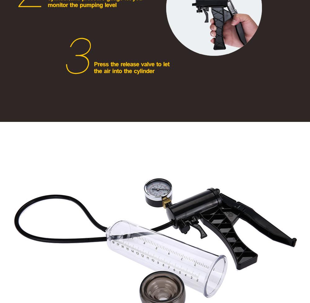 Semo P61B2 Hand-drive Penis Enlarge Pump Manual Operation Vacuum Adult Product for Men Sex Products 7