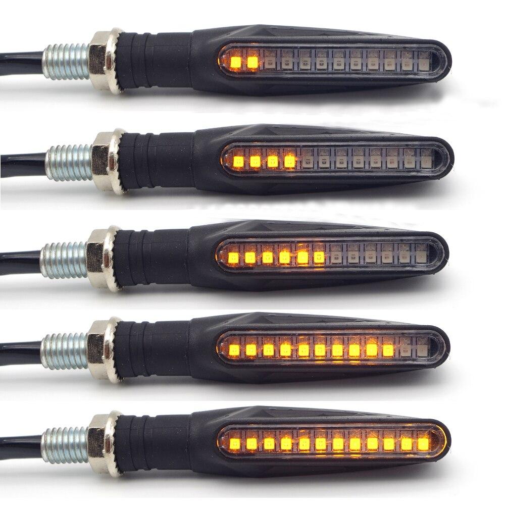 Universal flowing water flicker led motorcycle turn signal Light Blinker Amber Indicators FOR KAWASAKI Z250 Z300 Z750 Z800 Z1000