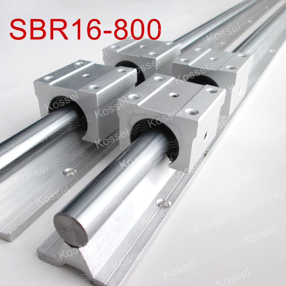 2pcs SBR16  800mm linear guide + 4pcs SBR16UU block for cnc parts 2pcs sbr16 1000 1500mm linear guide 8pcs sbr16uu block for cnc parts