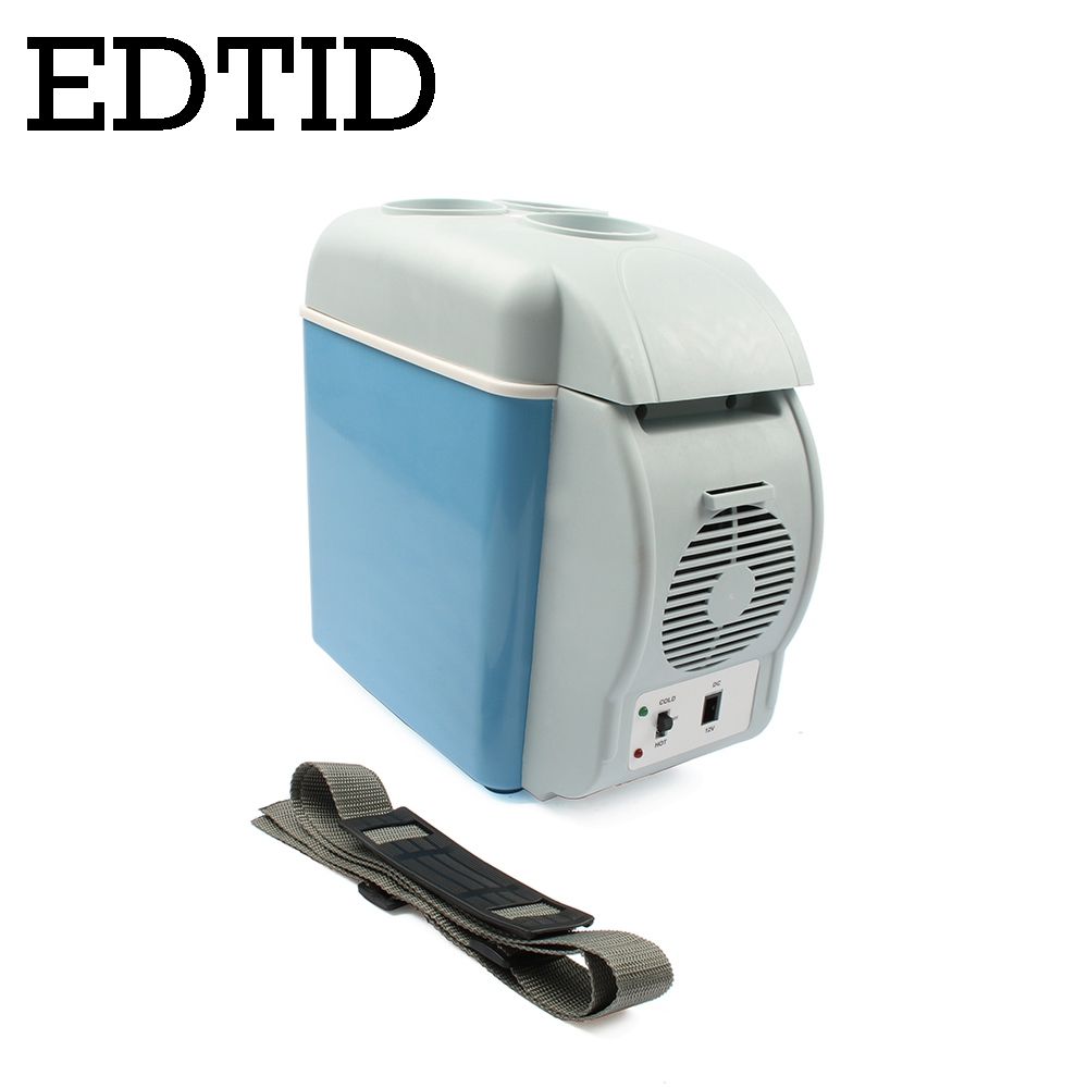 Small Portable Fridge Us 81 73 7 Off Edtid Mini Car Fridge Portable Auto Household Refrigerator Travel Truck Cooler Box Freezer Office Home Food Warmer 7l 220v 12v In