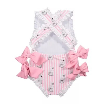 5d3b5636bd950 Spanish Baby Swimwear Girls Toddler Girls Rash Guard Bathing Suit Soft  Cotton Baby Girl One Piece Outfit Summer Bikini with Bows-in Swimwear from  Mother ...