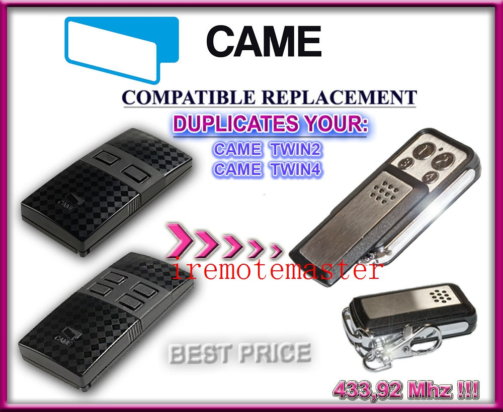 FOR Came TWIN2,TWIN4 Garage Door Gate Transmitter Remote Control Duplicator 433.92mhz