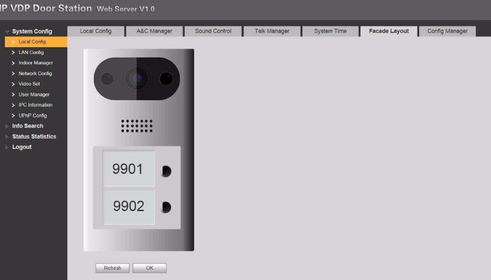 DH logo Multi-idioma VTO3211D-P2 2 botones PoE (802.3af) IP Metal Villa timbre, teléfono de la puerta, timbre, intercomunicador de vídeo IP, Nube - 4