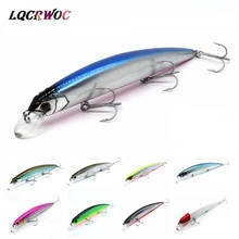 Купить с кэшбэком NEW Minnow 130mm 20g Pike fishing lure high quality Hard baits wobblers swing swimbait crank bass ice fish winter japan lures