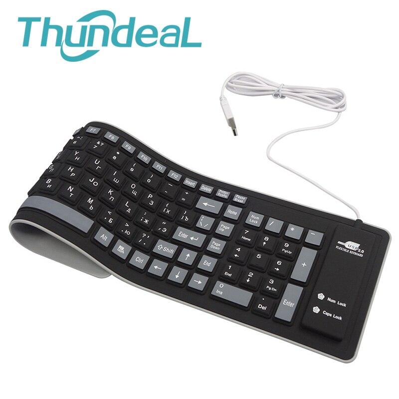 103 schlüssel Russische Tastatur Buchstaben Silicon Teclado Layout Usb-schnittstelle Russische Tastatur Flexible Teclado PC Desktop Laptop Wired