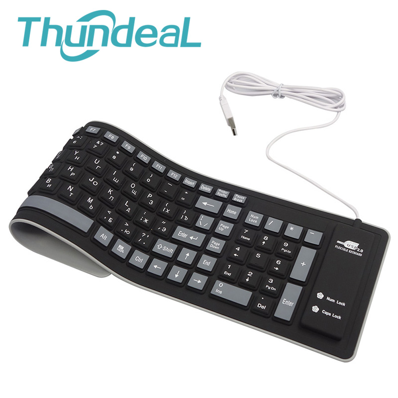 103keys Russian Keyboard Letters Silicon Teclado Layout USB Interface Russian Keyboard Flexible Teclado PC Desktop Laptop Wired цена