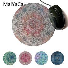 MaiYaCa Autumn Spice Mandala in Coral Cream and Rose Beautiful Anime Mouse Mat C