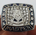 Wholesale Past Master Masonic Zinc Alloy silver plated fashion Custom Sports Replica Men World Championship Ring Beautiful Ring