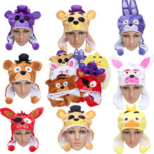 FNAF Plush Toy Five Nights At Freddy's Mangle Freddy Fazbear Foxy Bonnie Chica Kids Cartoon Hat Warm Winter Plush Cap Doll(China)