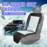 Universal 12V Summer Hot Electric Car Cool Cooling Seat Cushion Seat Cover Air Conditioning Breathable Fan Blowing Cooler Cable