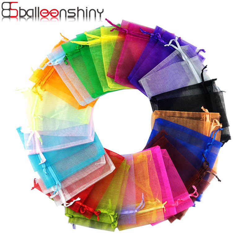 Balleenshiny Organizer Earring Pouch Storage-Bag Mesh Gift Necklace Candy-Color Multicolor