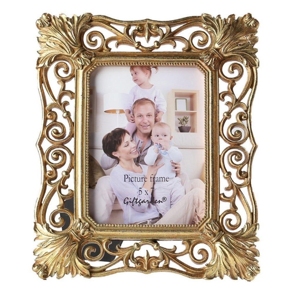 giftgarden  gold picture frames vintage photo frame