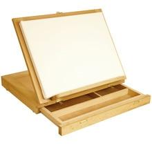 Регулируемый деревянный стол мольберт с ящиком для хранения, Премиум Beechwood