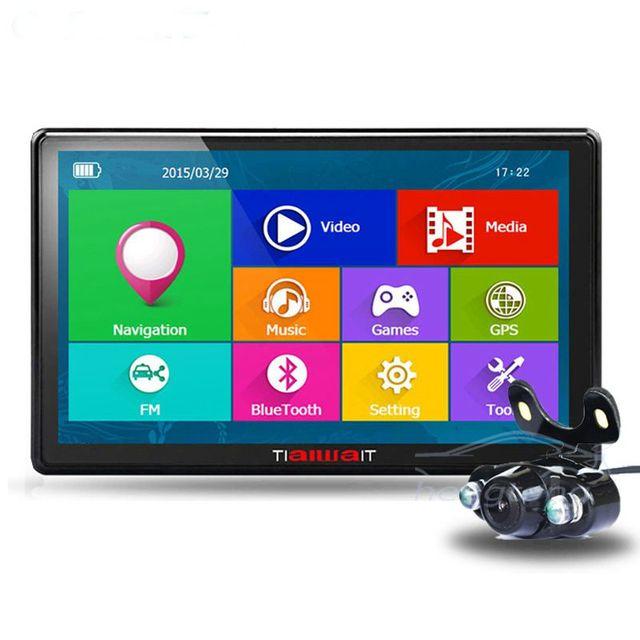 Nueva 7 pulgadas Coche Gps pantalla Capacitiva DH DDR/800 MHZ Bluetooth retrovisor FM Camión vehículo gps Sat Nav Navitel/Europa