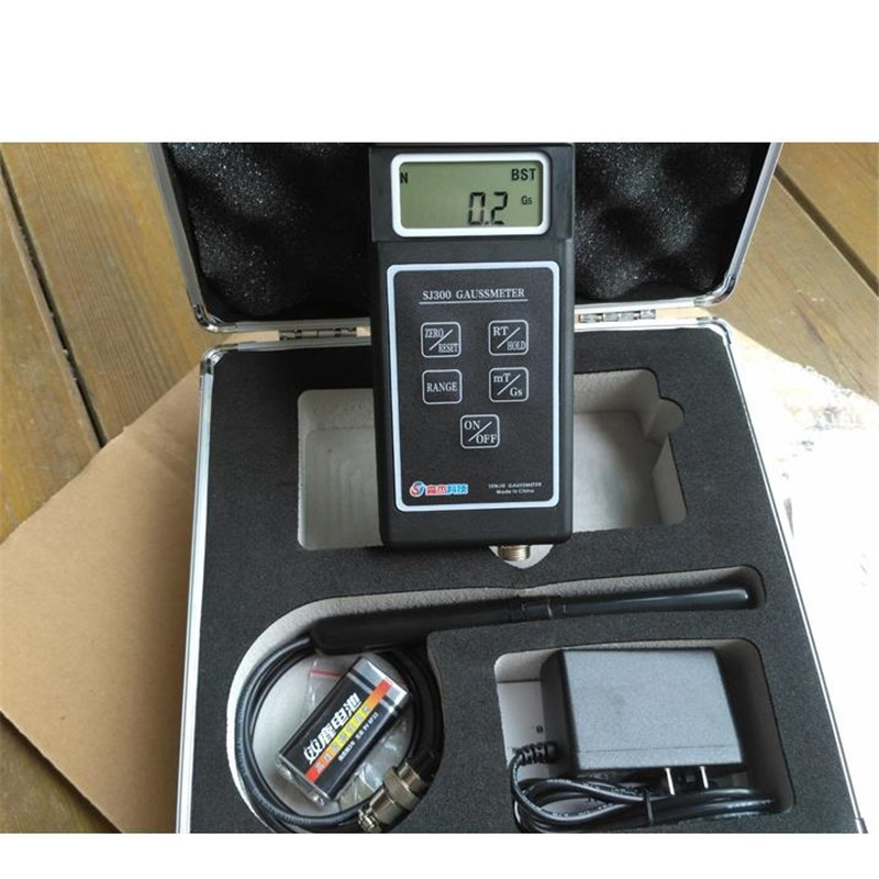 Magnetic Permeability Meter : Sj remanence residual magnetic measurement gauss meter