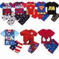 Children Superman Clothes set New Cartoon Short sleeve boys clothes Casual Home Wear For 2-7 Years 19