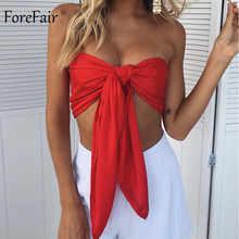 Forefair Verband Crop Top Sexy Off Schulter Party Club Multi Weg Wrap Kreuz Spitze Up Leibchen Backless Strand Sommer Tops