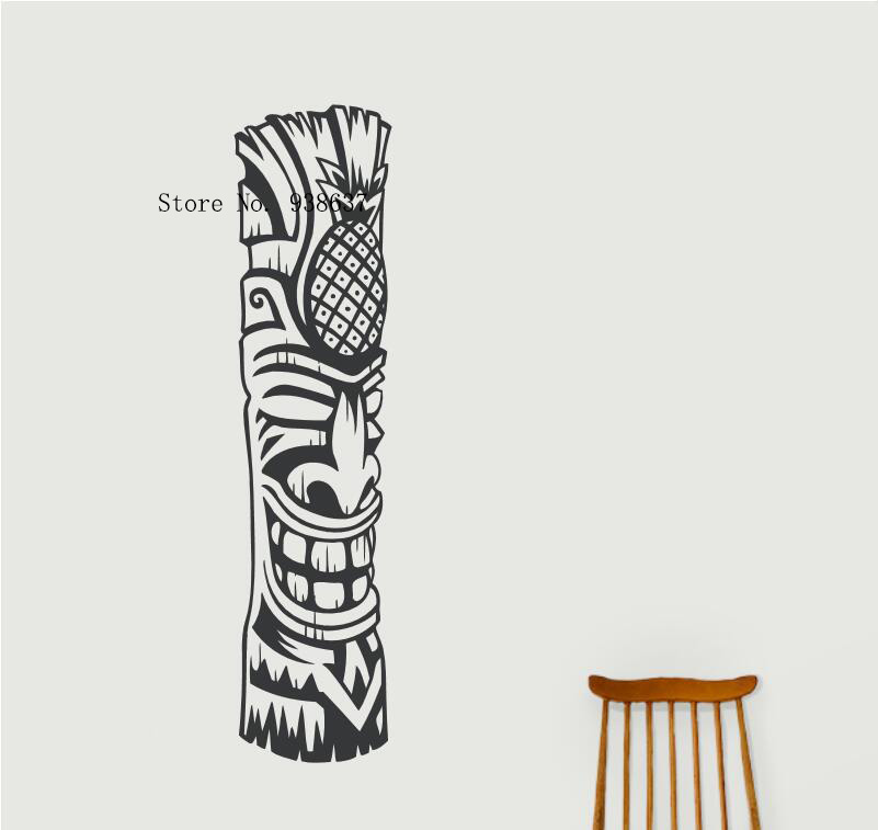 Tiki Totem Art Sticker Salon Maison Décoration Murale Auto-Adhésif Sticker Mural Amovible Waterpoof Décor Stickers ZA831
