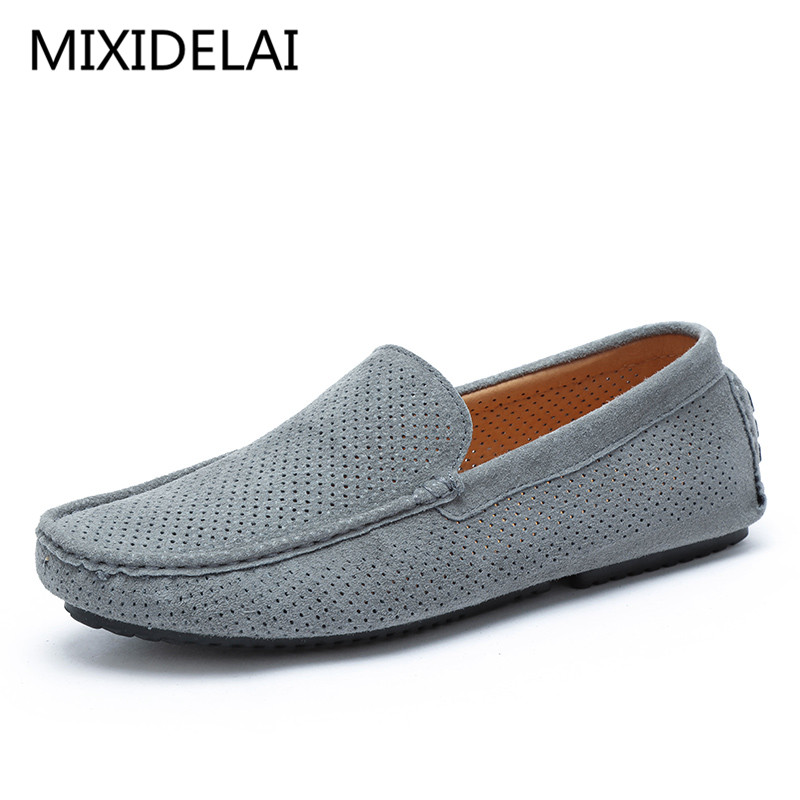 Superstar Men Genuine Suede Leather Loafers Shoes Casual Italian Luxury Brand Shoe Men Hollow Breathable krasovki Boat Shoe cangma superstar italian luxury brand shoes for woman genuine leather women casual orange silver classic shoes schoenen vrouwen