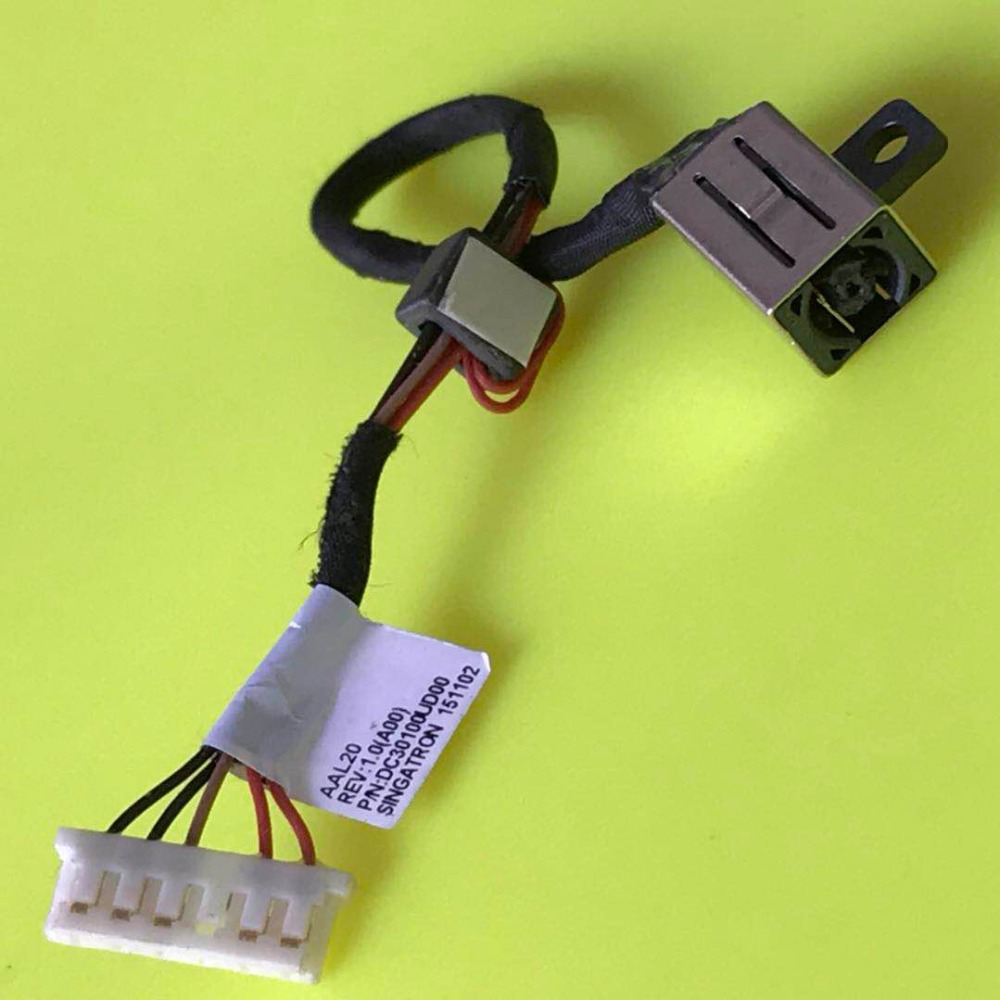 New Laptop DC Jack Cable Power Charging Port Wire For <font><b>Dell</b></font> Inspiron-15 5551 5555 5558 5559 3459 3558 3559 5458 <font><b>5459</b></font> 3568 3569 image