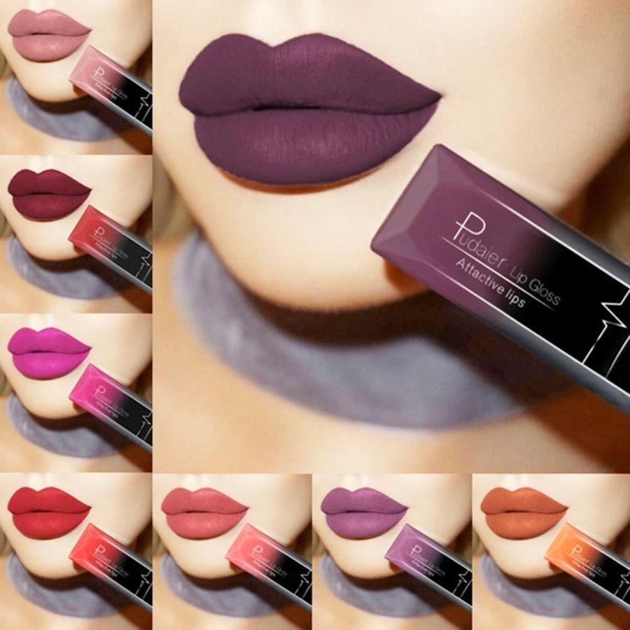 2019 Women Beauty Lip Makeup Sexy Long Lasting Waterproof Lip Gloss Matte Nude Liquid Lipstick Cosmetic Mother GIFT Lip Balm