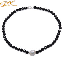 Rare Elegant 8mm Nature Black Facetd Round Agate Gemstone Beads Necklace Fashion Women Jewelry 18-18.5inches