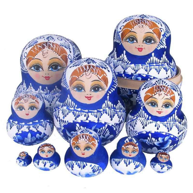 10 шт. красивая кукла деревянные игрушки матрешка куклы, детский подарок русская матрешка куклы Детская игрушка девочка-кукла MU